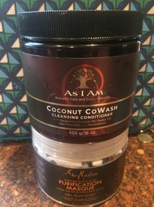"""Coconut Cowash"" by As I Am & ""African Black Soap Purification Conditioner"" by Shea Moisture"