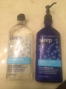 Bath and Bodyworks Sleep Lavender Vanilla Body Wash and Lotion